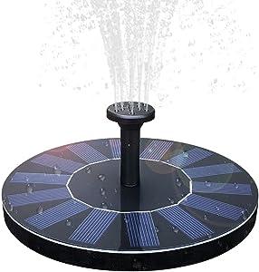 SVWSUN Solar Birdbath Fountain,1.4W Solar Panel Kit Water Pump Solar Powered Floating Fountain Kit Solar Water Fountain for Bird Bath Pond, Pool and Garden Decoration