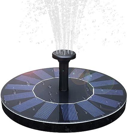 1.4W Solar Powered Fountain Pump Floating Bird Bath Water Pond Garden Pool Tool