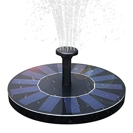 Solar Birdbath Fountain,1 4W Solar Panel Kit Water Pump Solar Powered  Floating Fountain Kit Solar Water Fountain for Bird Bath Pond, Pool and  Garden