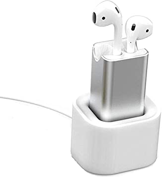 POWVANU Charging Case for Airpods, reemplazo de la Caja de Carga, Compacted with Airpods Charger Desktop con Soporte, 15 Minutos de Adaptador de Carga rápida para AirPods: Amazon.es: Electrónica
