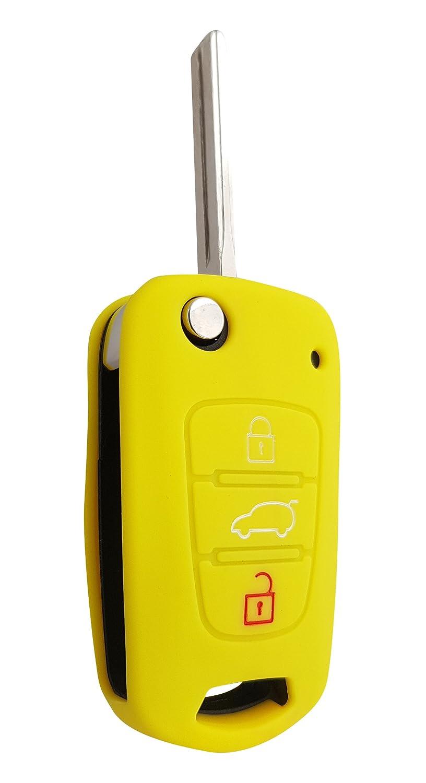 Hyundai Auto Portachiavi Key Cover Case Custodia Silicone per I10/I20/ix25/I30 CK