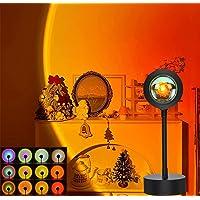12 Colors Sunset Lights,Sunset Projection Lamp LED Night Light 48 Levels of Luminosity 360 Degree Rotation Atmosphere…