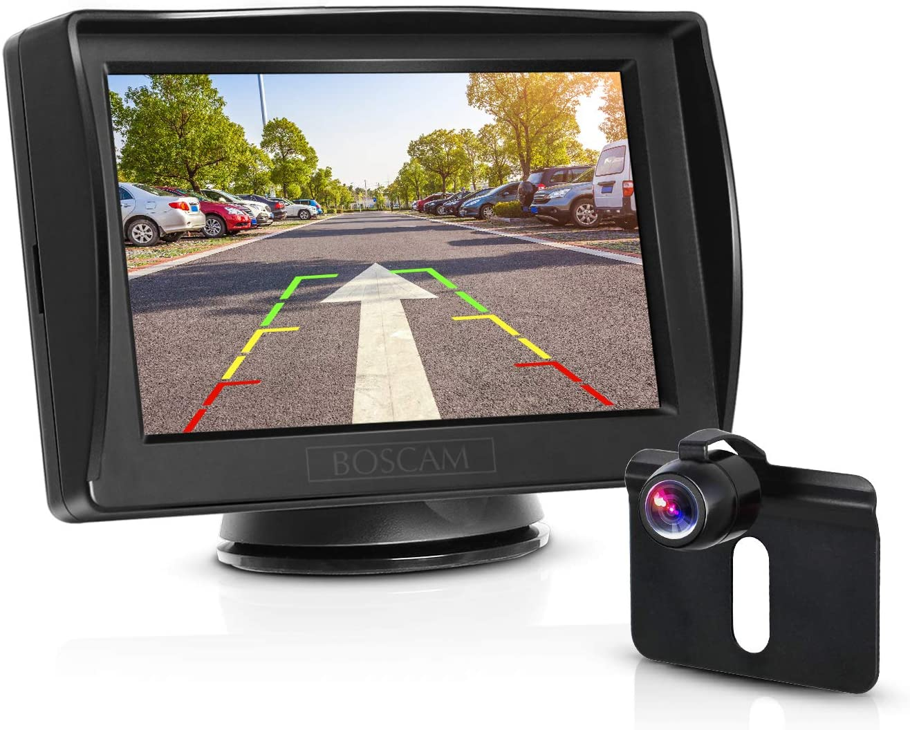 4.3 LCD Monitor with Stable Image 170/° Wide Angle Night Vision Back Up Camera BOSCAM K3 Backup Camera Kit