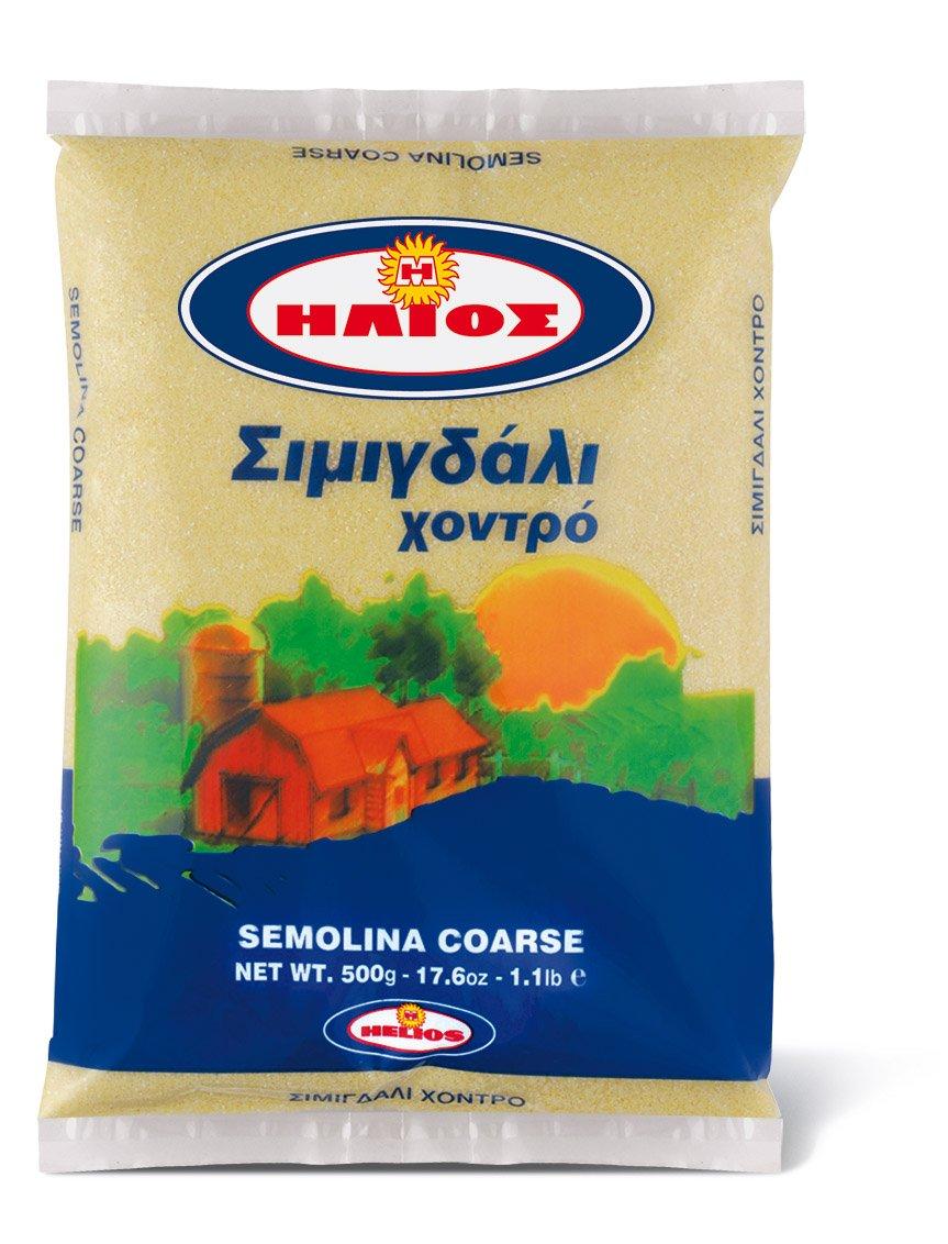 Helios Coarse Semolina Net Wt 500g/17.6 oz/1.1 lb