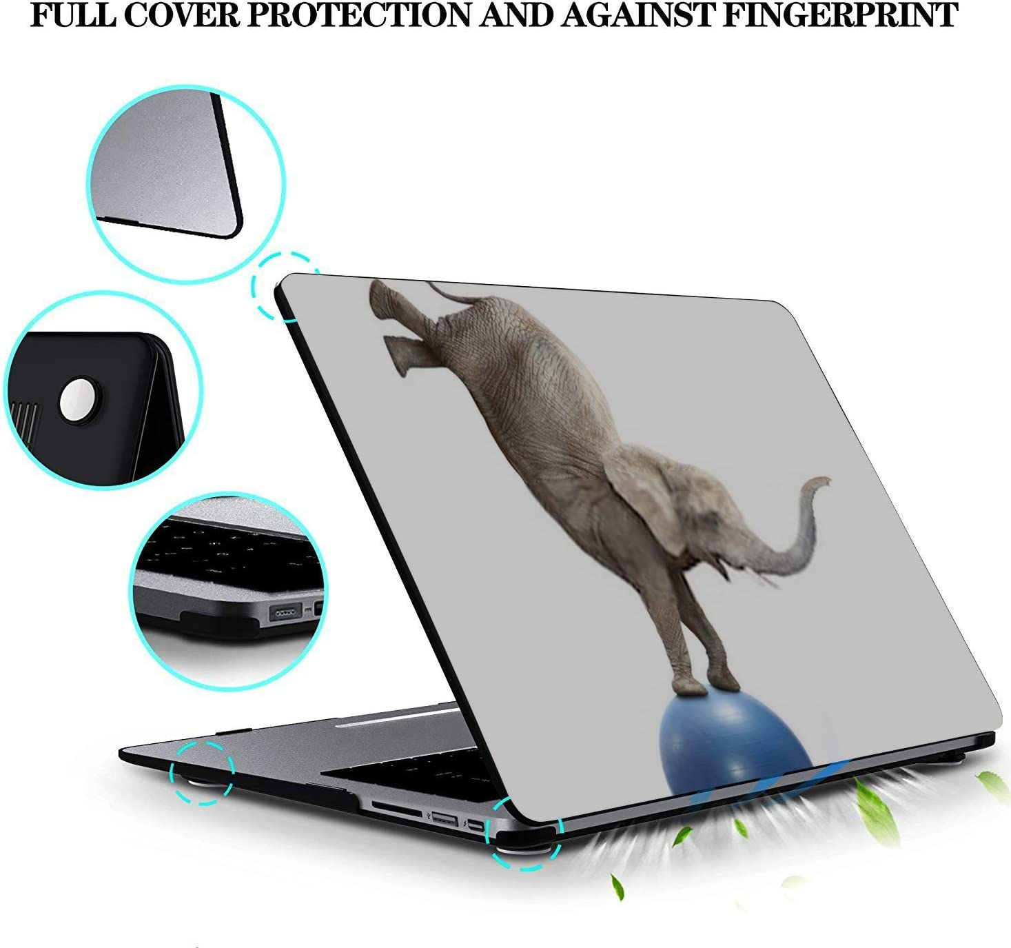 MacBook Pro Case African Elephant Balancing On Ball Funny MacBook Air 11 //A1370//A1465Plastic Case Keyboard Cover /& Screen Protector /& Keyboard Clean