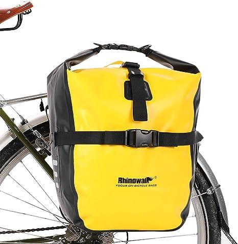 Selighting Bolsa Alforja Trasera para Bicicleta 20L, Grande Bolsa Bicicleta Multifunción Carretera MTB Bicicleta de Montaña (Amarillo): Amazon.es: Deportes y aire libre