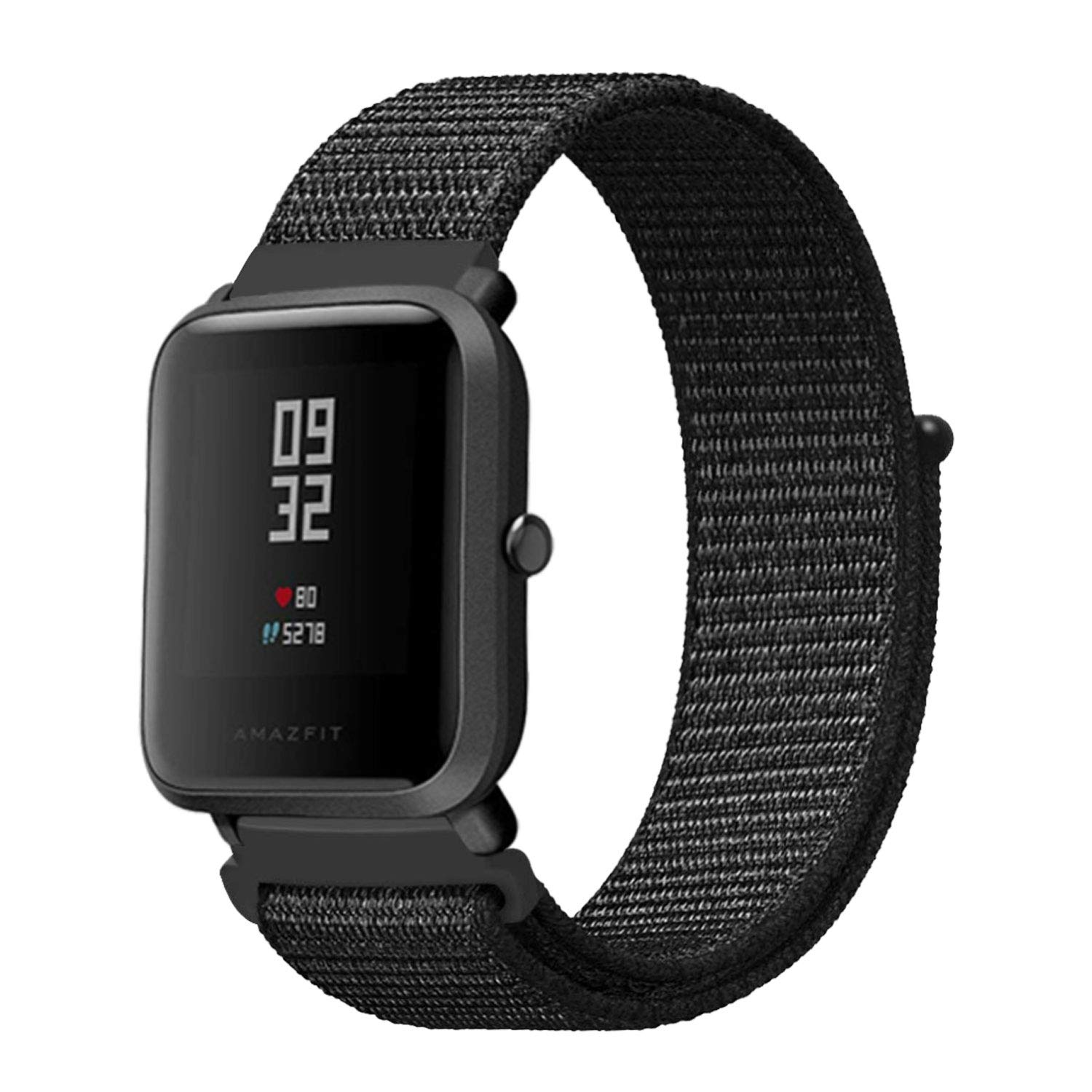 LitoDream Compatible Amazfit Bip Watch Band Nylon,20mm Woven Nylon Soft Lightweight Wristband Replacement Straps for Xiaomi Huami Amazfit Bip Younth ...