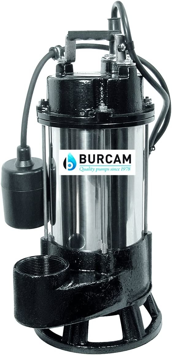 BURCAM 400416T 3/4 HP Heavy Duty Stainless Steel Sewage Grinder Pump