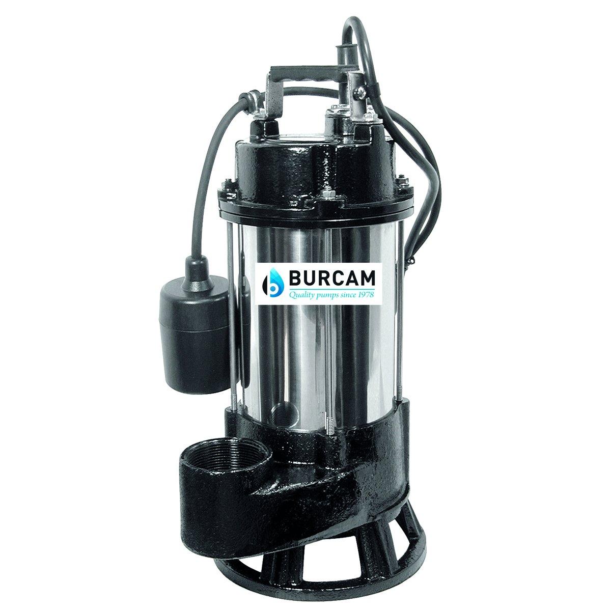 BURCAM 400416T 3/4 HP Heavy Duty Stainless Steel Sewage Grinder Pump by Bur-Cam
