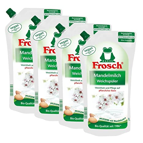 4 x litro de suavizante 1 leche de almendras rana- La preparación con leche de