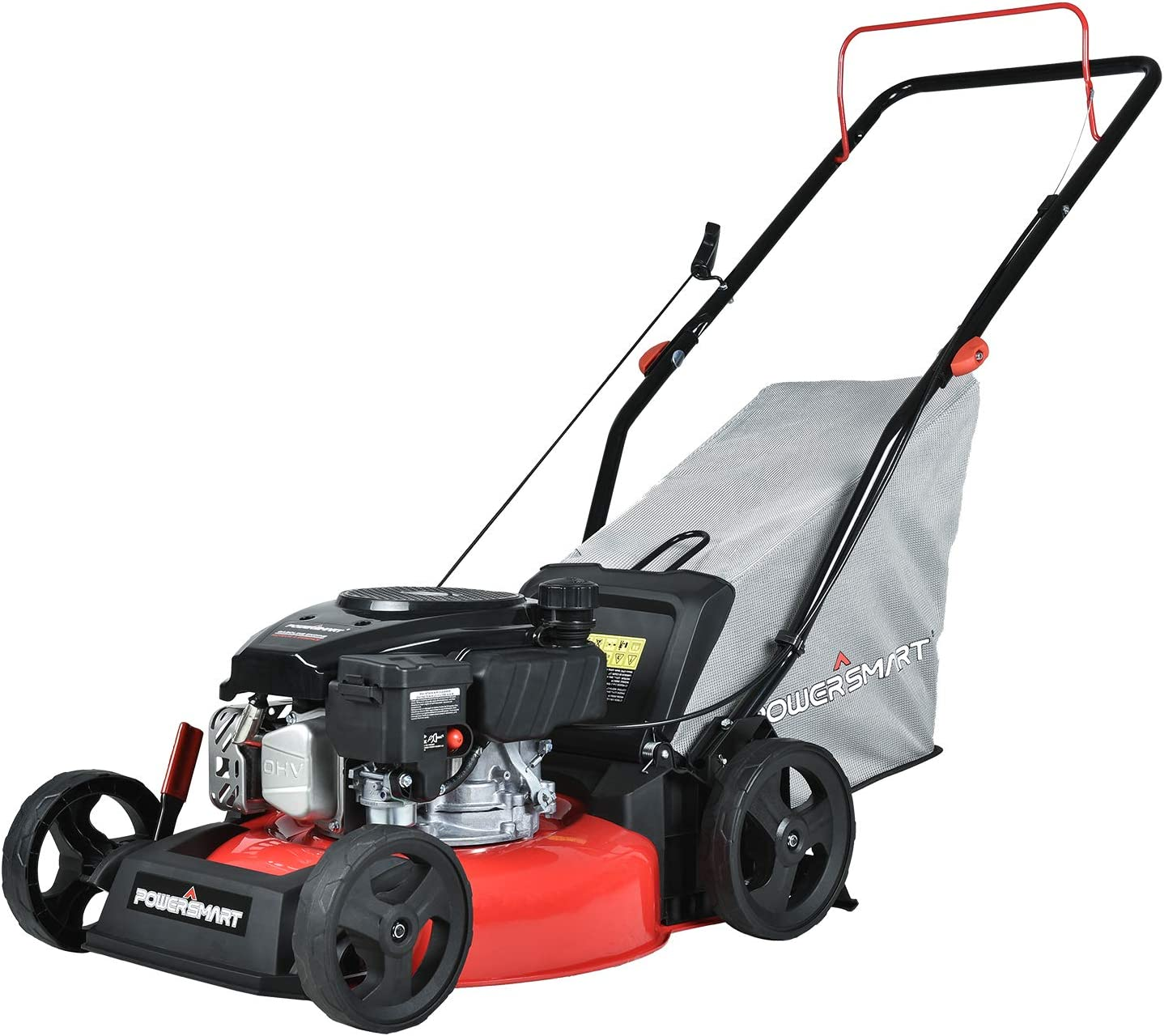 PowerSmart 17-inch & 127CC, Homeuse Gas Powered Push Lawn Mower