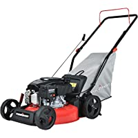PowerSmart Lawn Mower, 17-inch & 127CC, Homeuse Gas Powered Push Lawn Mower with 4-Stroke Engine, 3-in-1 Gas Mower in…