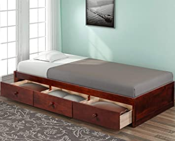 Amazon Com Rhomtree Twin Bed With Storage Platform Bed With 3