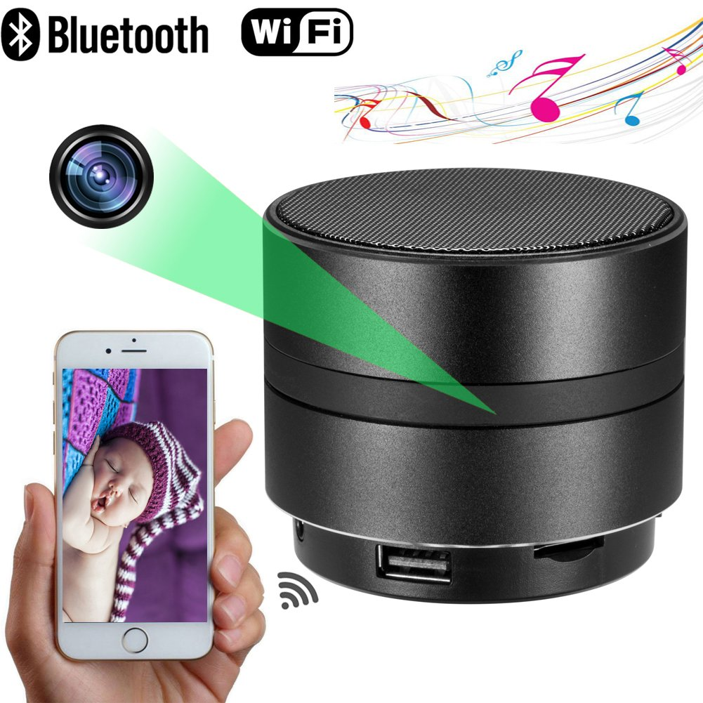 MINGYY 4K HD Bluetooth Speaker Camera WiFi Spy Camera Wireless Hidden Camera Home Night Vision Camera Security System Video Remote View Camera Monitor Baby Office Nanny Cam App Camcorder Kid by MINGYY