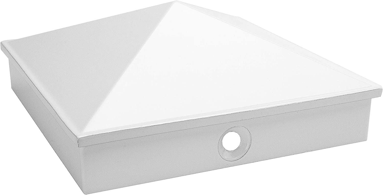 pir/ámide tapas de poste 9x9 cm de aluminio fundido inoxidable paquete de 5 // 10 pintado en polvo en 3 colores 10, negro tapa de cubierta // tapa decorativa  