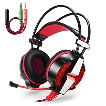 Gaming Auriculares para PS4, PC, Ordenador portátil, Xbox 360. Diadema Diadema GS700 Red: Amazon.es: Informática