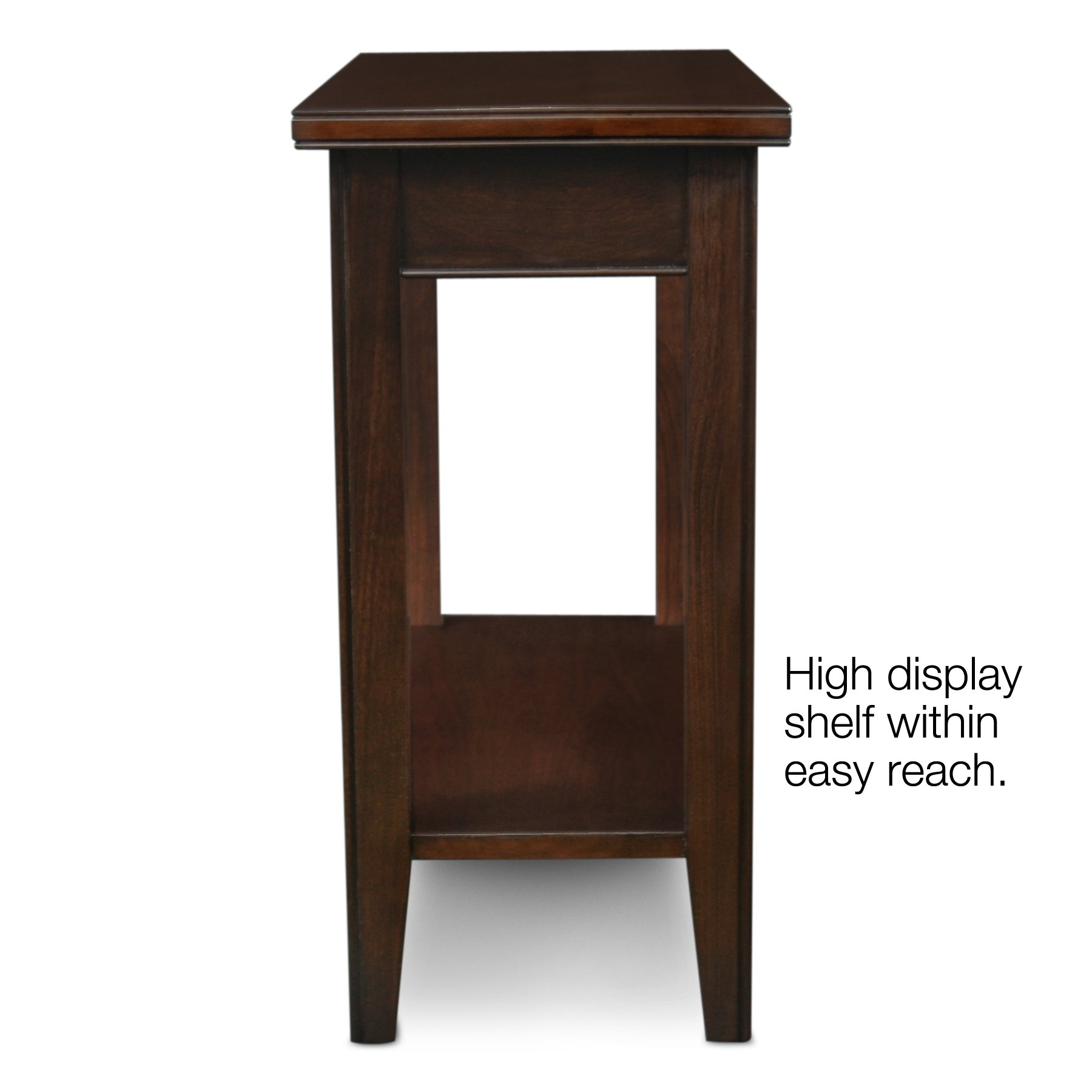 Leick laurent narrow chairside end table for 12 inch accent table