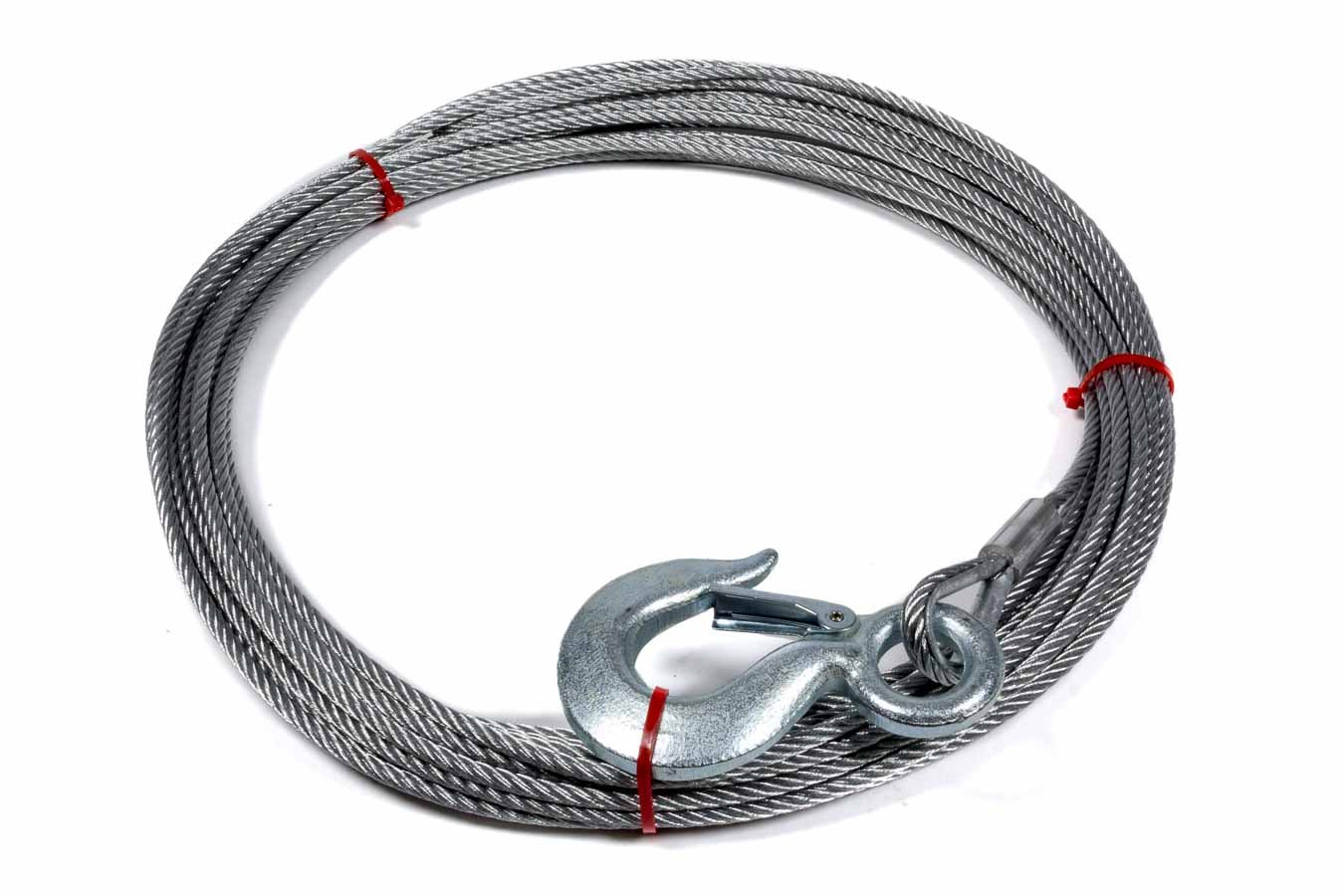 Superwinch 1514A Wire Rope assembly with Hook 7/32'' X 60' - replacement wire rope for S4000