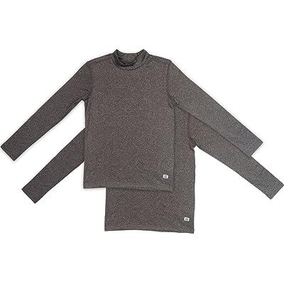 Layer 8 Boys (2-pack) Mock neck Fleece Lined Performance Base Layer shirt