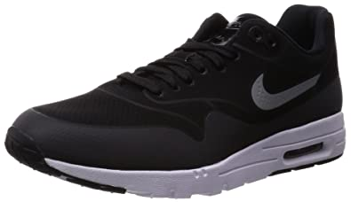 nike running shoes white air max. nike women\u0027s air max 1 ultra moire black/black/mtllc slvr/white running shoes white