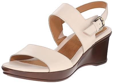 Naturalizer Women's Vibrant Wedge Sandal, Porcelain, ...