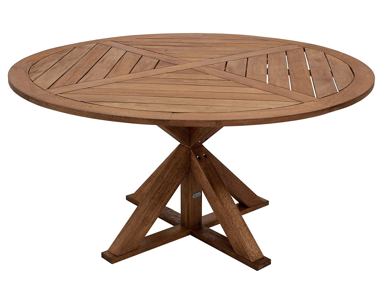 Gartentisch CASABLANCA XL aus Massivholz 150cm rund, Eukalyptus ...