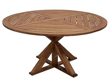 Amazon De Gartentisch Casablanca Xl Aus Massivholz 150cm Rund