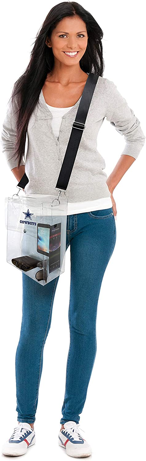 12 by 10 by 5 Littlearth NFL Dallas Cowboys Unisex Nflnfl Ticket Satchel Clear
