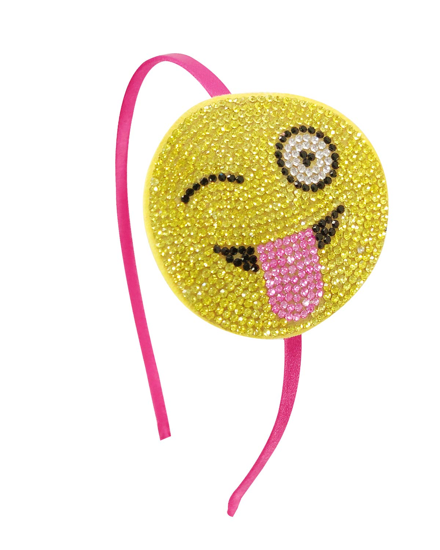 Wrapables Crystal Studded Bling Headband Emoji