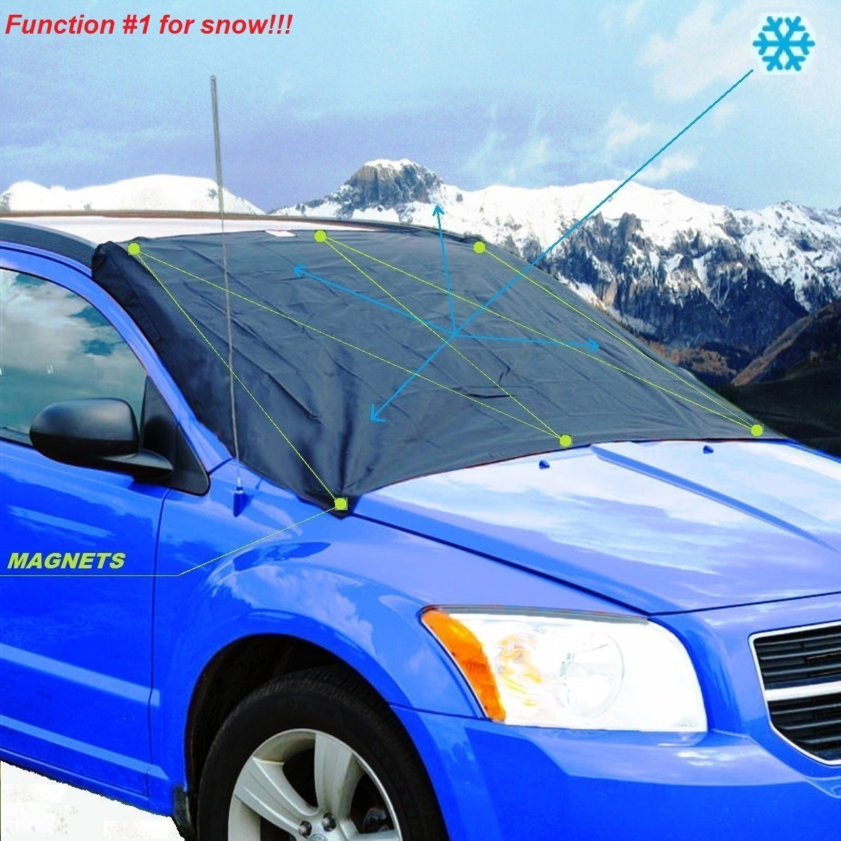 Amazon: Ismartshield Car Windshield Snow Cover With Storage Bag And  Sticky Mat: Automotive