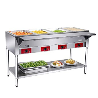 Stupendous Amazon Com 4 Wells Electric Food Steam Table Kitma Food Interior Design Ideas Apansoteloinfo