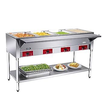 Phenomenal Amazon Com 4 Wells Electric Food Steam Table Kitma Food Download Free Architecture Designs Jebrpmadebymaigaardcom