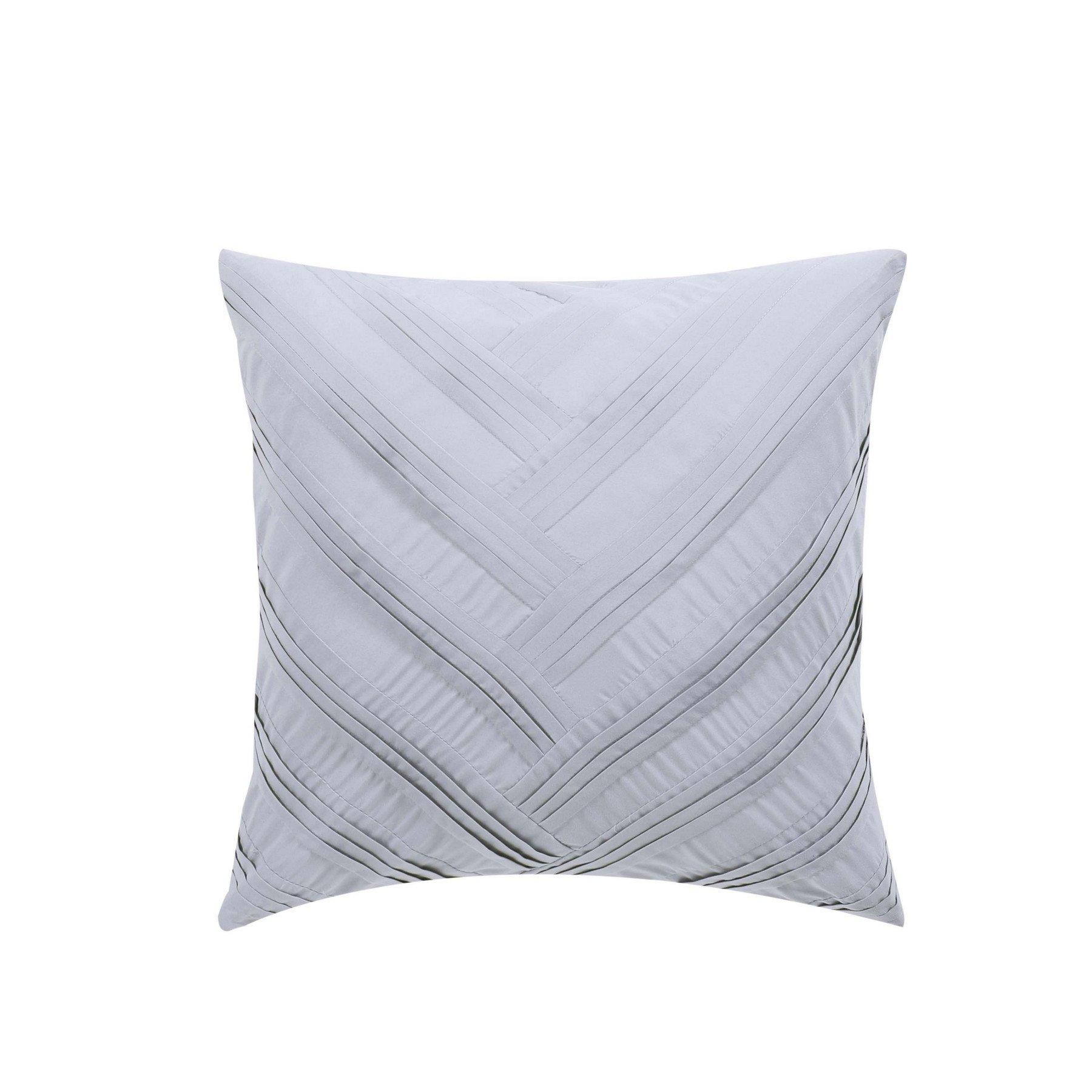 Vince Camuto Esti 18'' Square Decorative Pillow, Grey/White