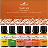 Plant Therapy Essential Oils Fruits Set - Grapefruit, Tangerine, Lemon, Mandarin, Lime, Orange Sweet 100% Pure, Undiluted, Natural Aromatherapy, Therapeutic Grade 10 mL (1/3 oz)