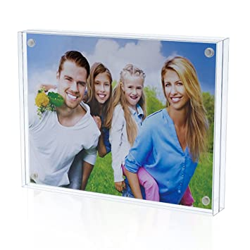 Amazoncom 6x8 Magnetic Picture Frame Acrylic Block Double Sided