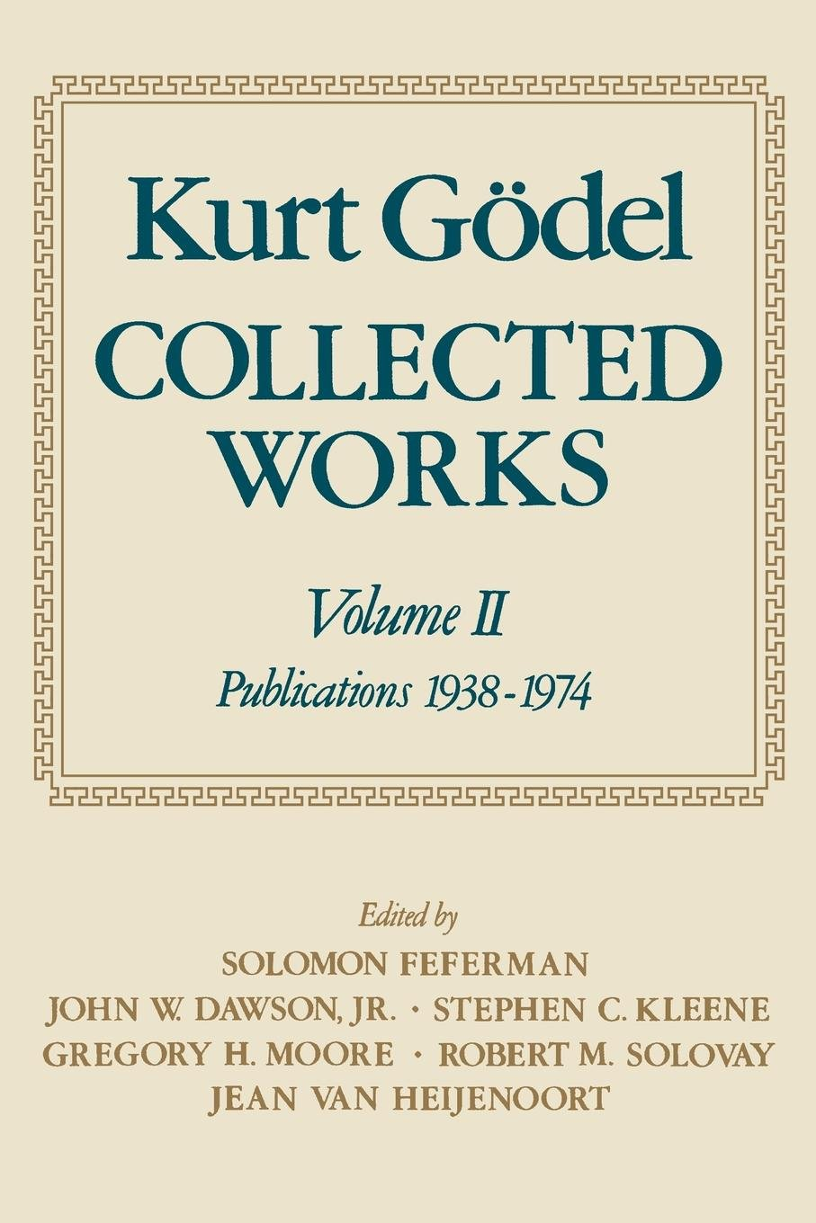 Collected Works. Volume II  Publications 1938 1974.