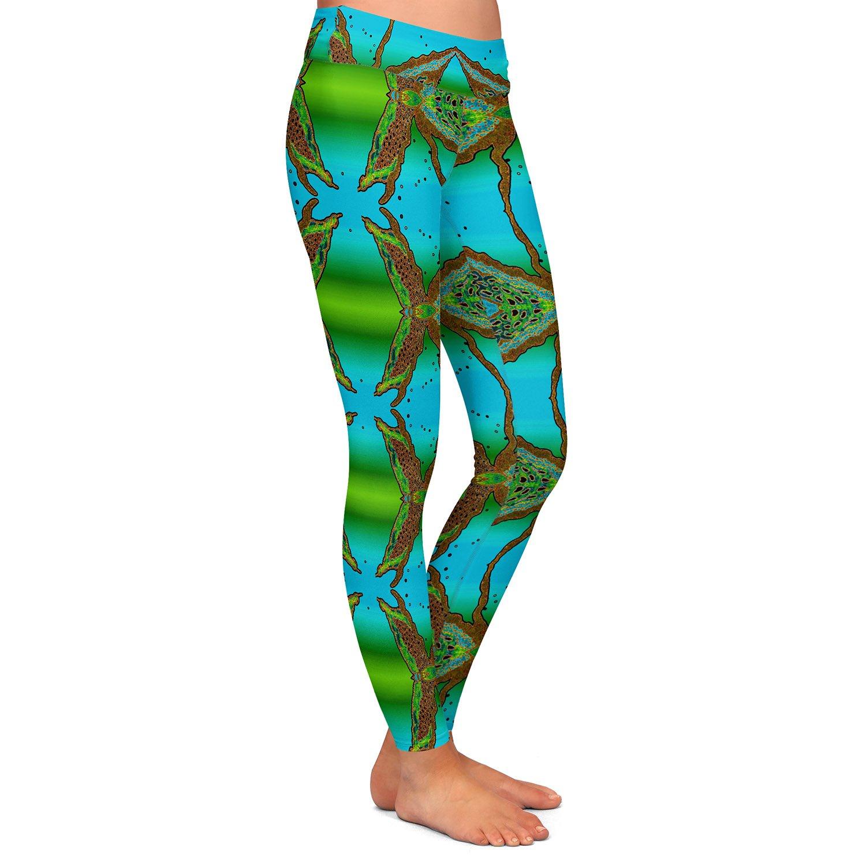Wax Batik B Athletic Yoga Leggings from DiaNoche Designs by Susie Kunzelman