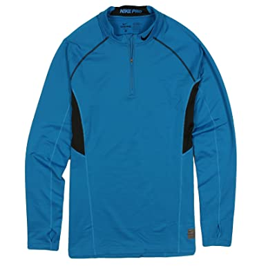 3df2f341 Amazon.com: Nike Pro Hyperwarm Series Fitted Dri-Fit 1/4 Zip Mock Fitted  Shirt, XL, Imperial Blue: Clothing