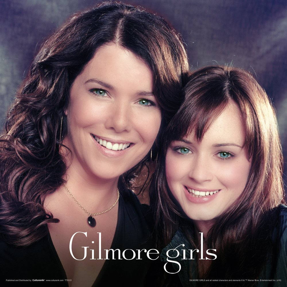 Gilmore Girls Vintage Lorelai and Rory Comedy Drama TV Television Show Print Unframed 12x12 Poster