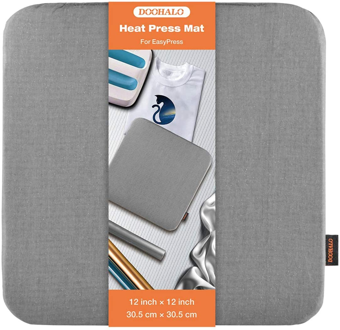 DOOHALO Heat Press Mat for Cricut Easy Press Craft Iron-on Mat for Power Heat Press Machine for Craft Vinyl Ironing Insulation Transfer T Shirts and HTV Vinyl Project