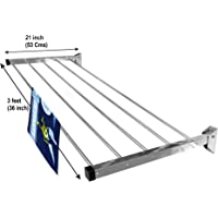 Homwell Stainless Steel Heavy Duty 5 Pipe Wall Mounted Cloth Dryer Stand Foldable Hold N Dry