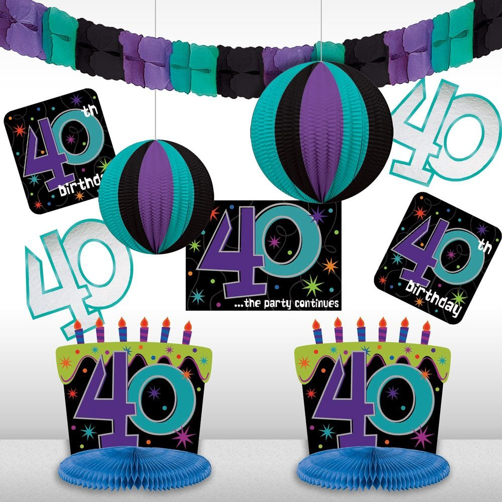 Amazon.com: The Party Continuous 40th Birthday Party Assorted Room ...