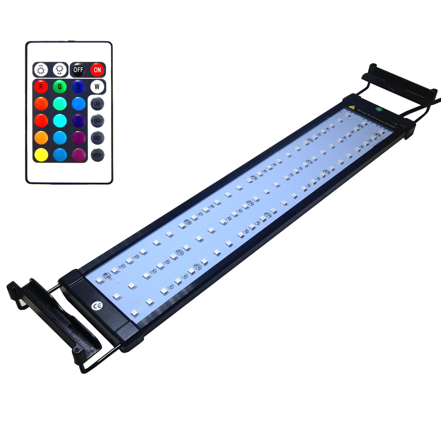 Fish tank led lights - Amazon Com Coodia Aquarium Hood Lighting Color Changing Remote Controlled Dimmable Rgbw Led Light For Aquarium Fish Tank High Quality Extendable Upto 28