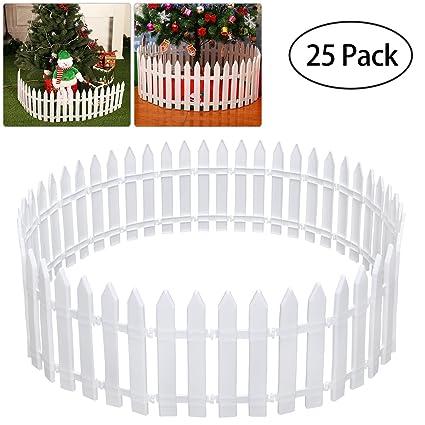 Tinksky piquete valla de plástico para árbol de Navidad boda fiesta decoración casa en miniatura jardín