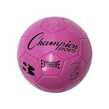CHAMPION SPORTS Extreme Series - Balón de fútbol, Color Rosa ...