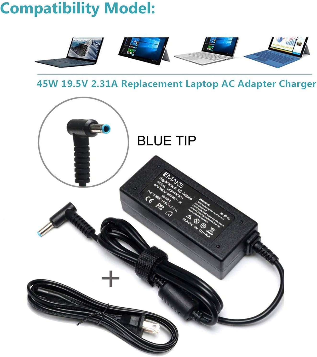 FitPow 180W AC//DC Adapter for HP RP7 RP7800 QZ701AA C6Y93UT#ABA 17 POS Terminal Retail System TPC-W008 TPCW008 Power Supply Cord Cable PS Charger Mains PSU