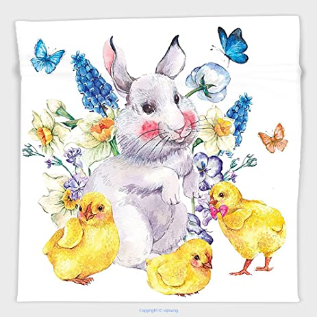 Elegant Vipsung Microfiber Ultra Soft Hand Towel Cartoon Decor Collection Vintage  Easter Illustrations With Happy Cute Photo Gallery