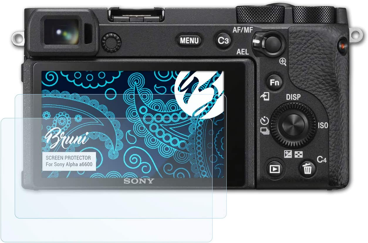 2X crystal clear Protective Film Bruni Screen Protector compatible with Sony Alpha a6600 Protector Film