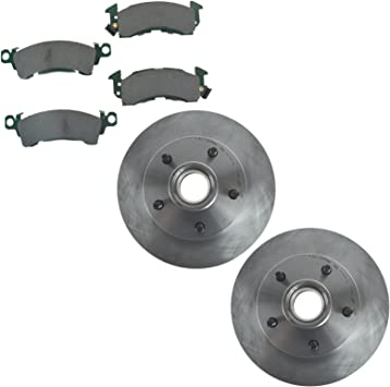 Front Disc Brake Rotors /& Posi Ceramic Pads Kit Set for Buick Cadillac Chevy GMC