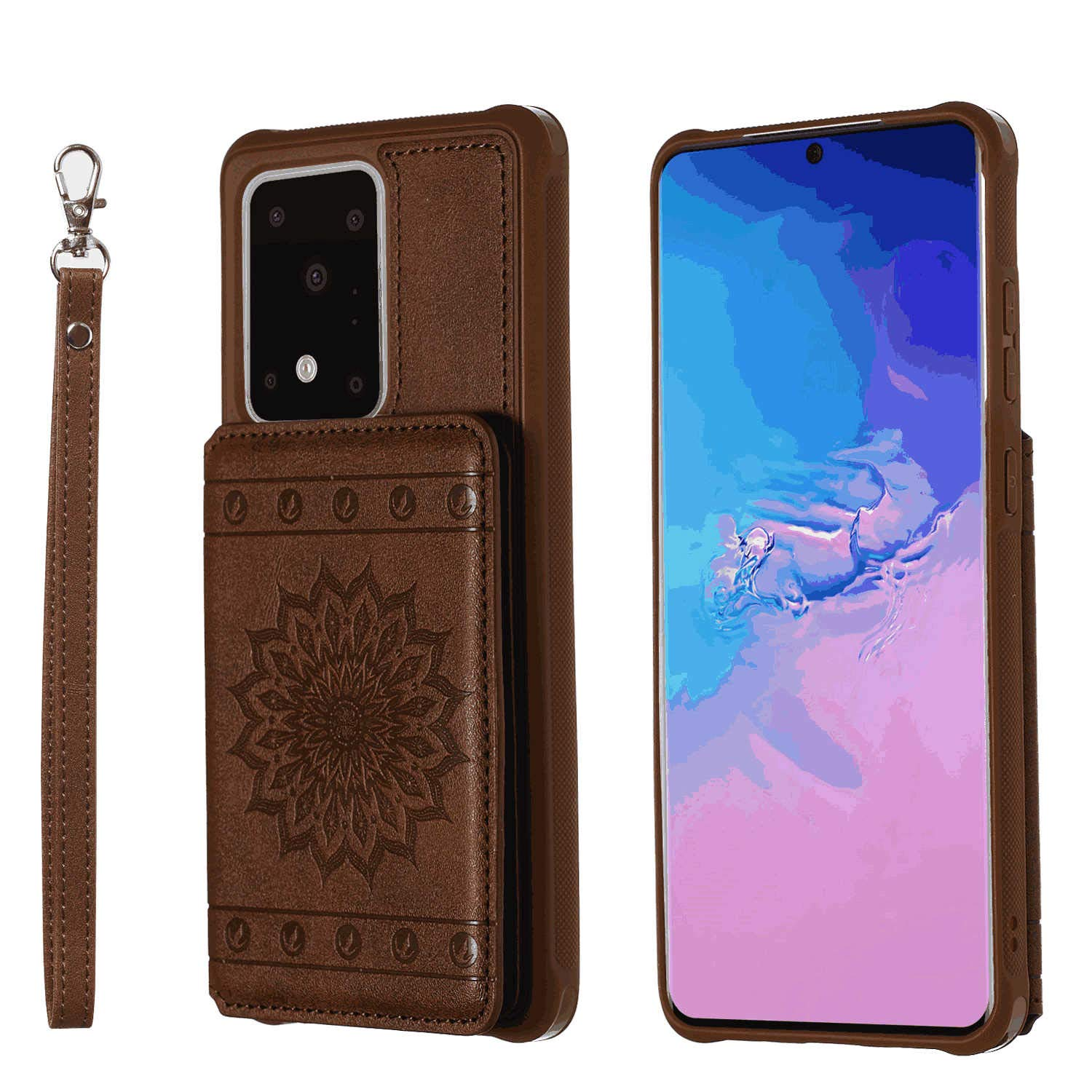 Elephant Wallet Cover for Samsung Galaxy S10e Leather Flip Case Fit for Samsung Galaxy S10e